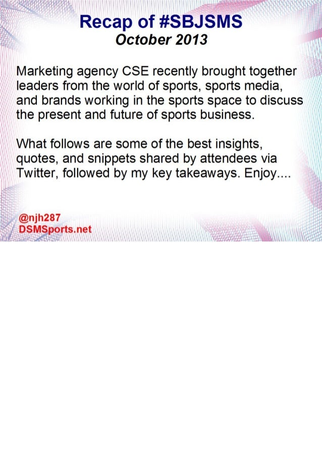 Sports Business Journal Sports Marketing Symposium (#SBJSMS) Recap and Insights