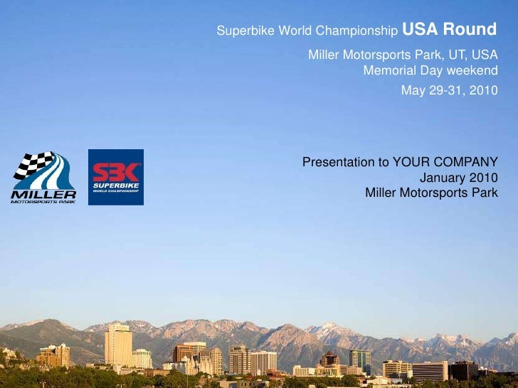 Superbike World Championship USA Round<br />Miller Motorsports Park, UT, USA<br />Memorial Day weekend<br />May 29-31, 201...