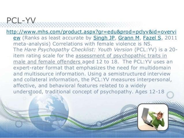 hare youth psychopathy checklist pdf