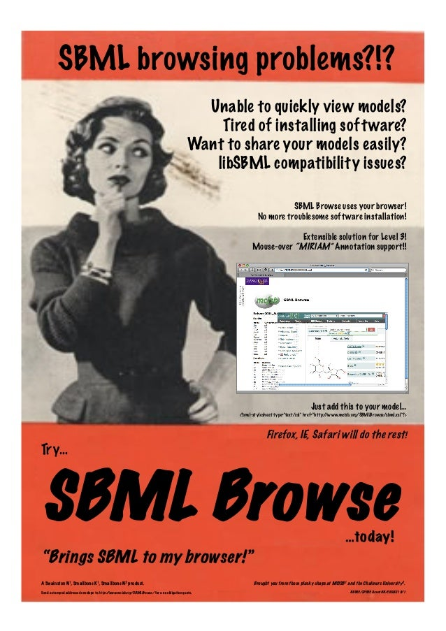 Unable to quickly view models? Tired of installing software? Want to share your models easily? libSBML compatibility issue...