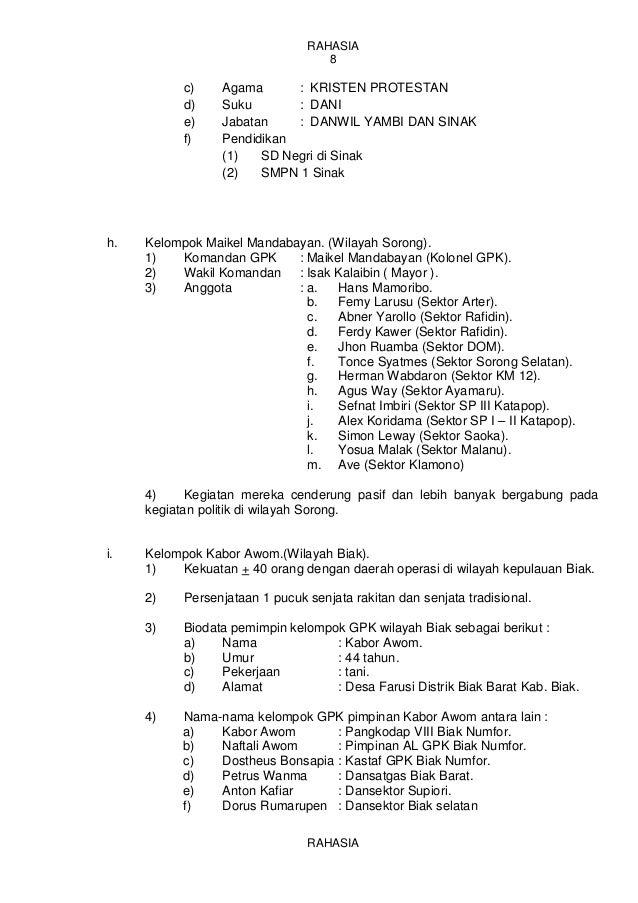 Contoh Laporan Informasi Polri Bidang Keamanan Kumpulan Contoh Laporan