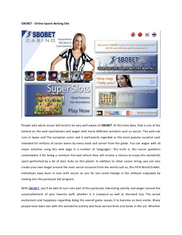 Sbobet Online Sports Betting Site
