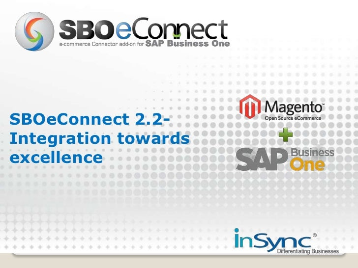 SBOeConnect 2.2- Integration towards excellence<br />