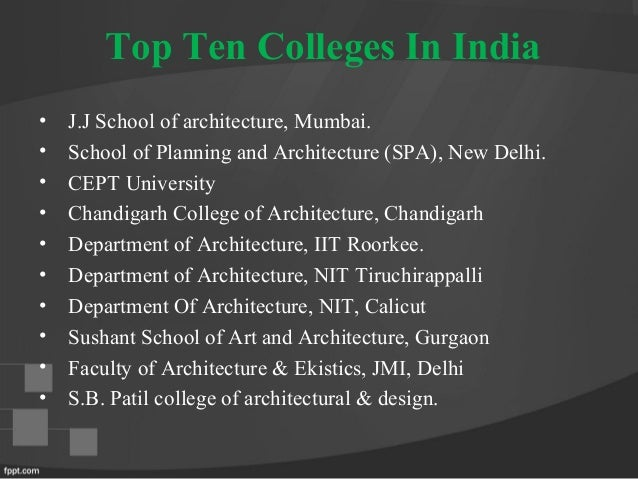 colleges with architecture programs