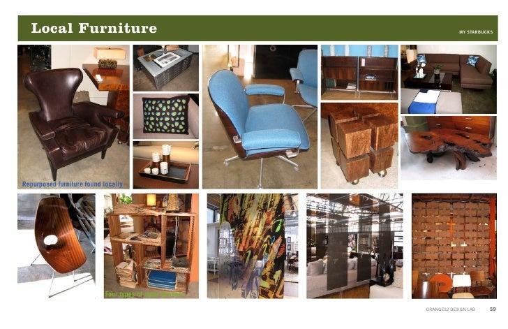 Lighting U0026 Local Artists MY STARBUCKS ORANGE22 DESIGN LAB 58; 59. Local  Furniture ...