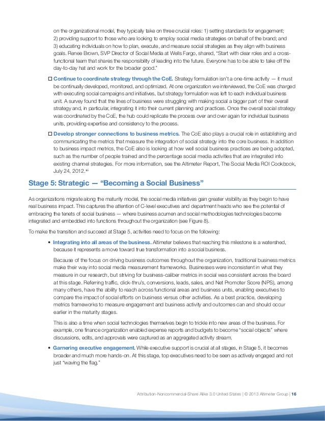 Report the evolution of social business six stages of social media 17 on the organizational model ccuart Image collections