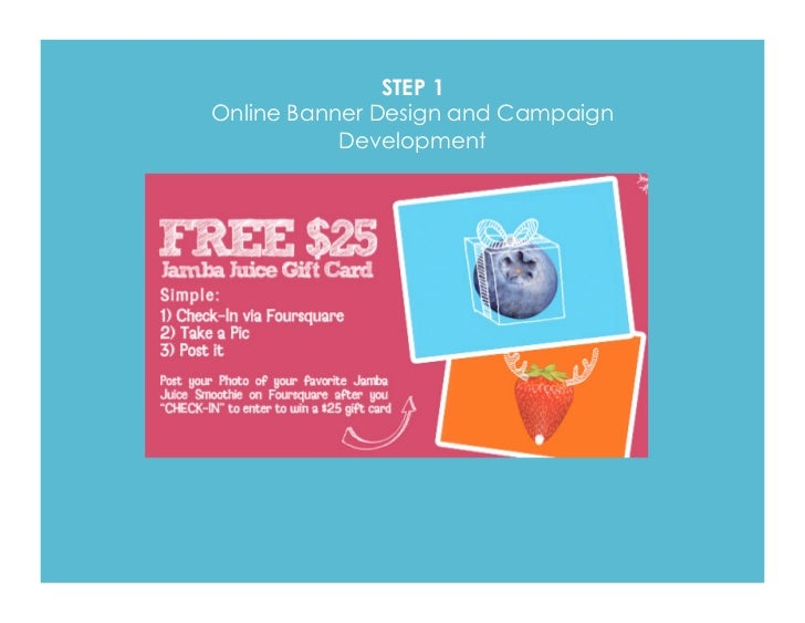 step online banner design and campaign development