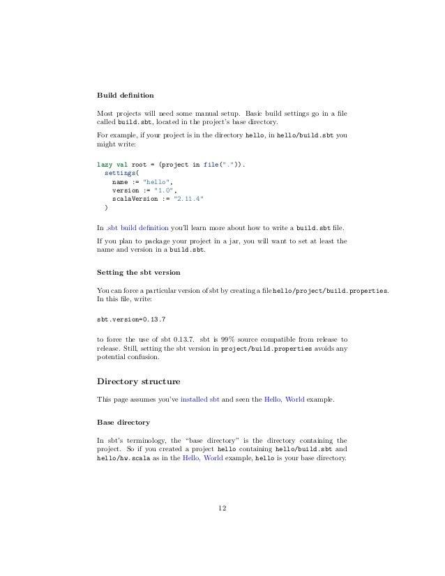 Sbt tutorial