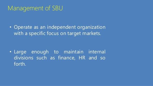 Strategic Business Unit