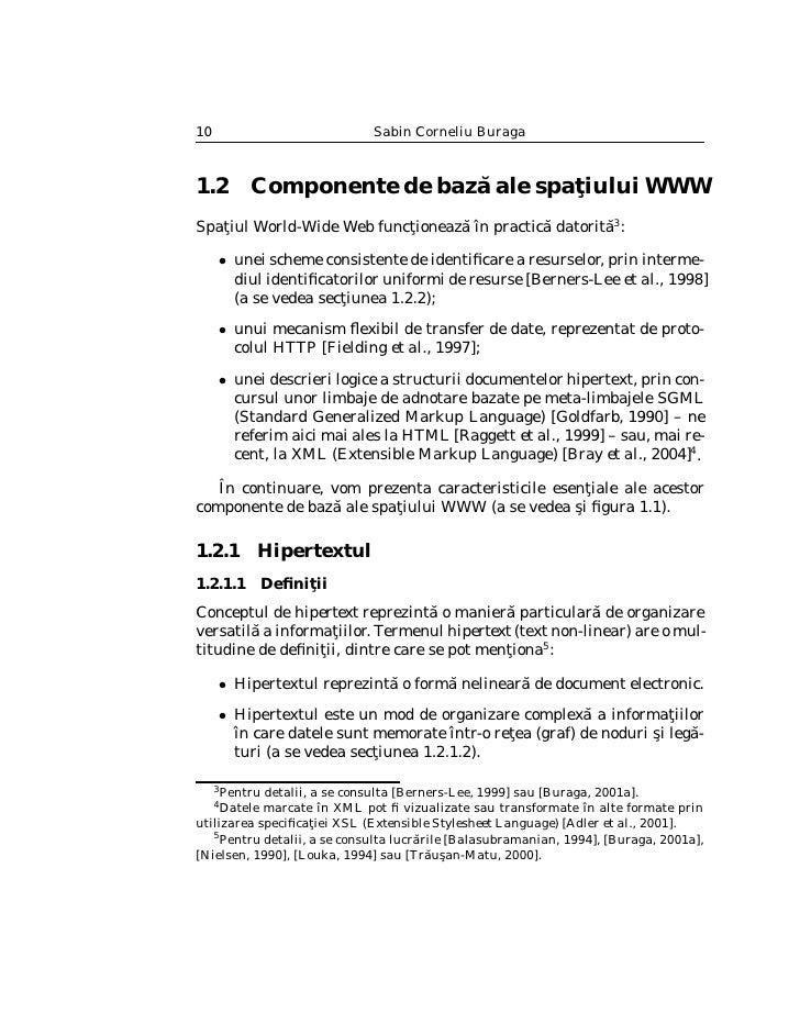 Arhitectura spa¸iului WWW                                        t                                  11     Figura 1.1: Rel...