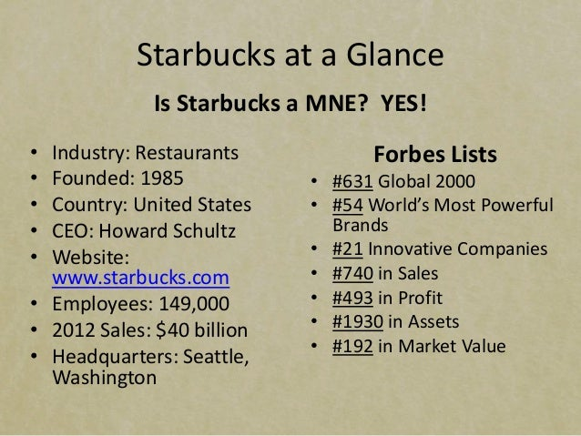 Case study starbucks international operations