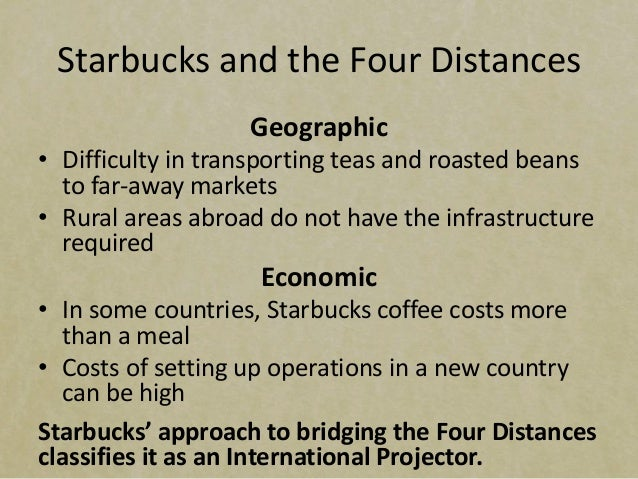 case study starbucks international operations Starbucks as an international business 9 current number one position (liu, 2009) mcdonald's is embracing the foreign market that starbucks has been leery about the third strongest threat is the power that the buyers have in this industry.