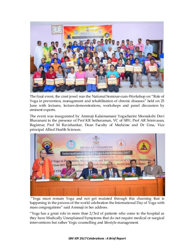 SBV IDY 2k17 celebrations: A grand success