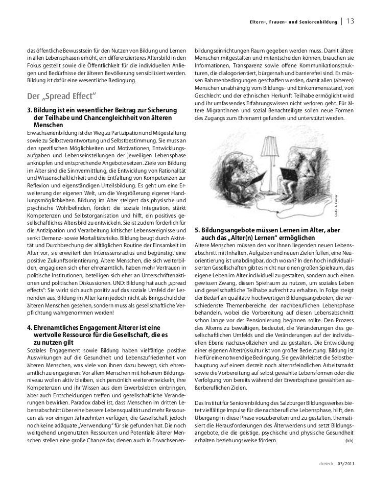 El ter n -, Fra uen - un d S en i oren b ild u ng                     13das öffentliche Bewusstsein für den Nutzen von Bil...