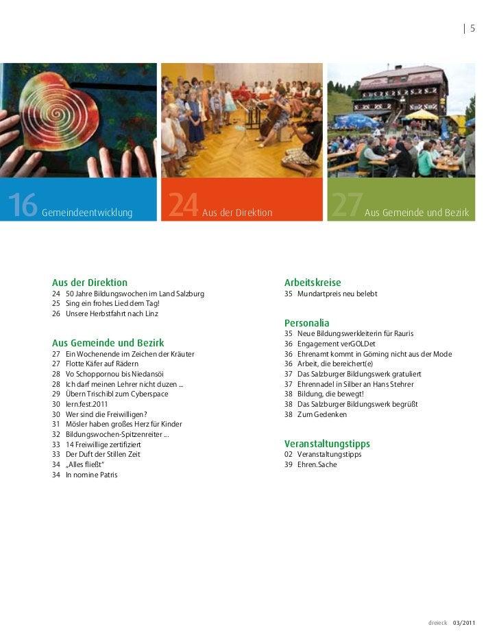   516   Gemeindeentwicklung                 24          Aus der Direktion                 27         Aus Gemeinde und Bezi...
