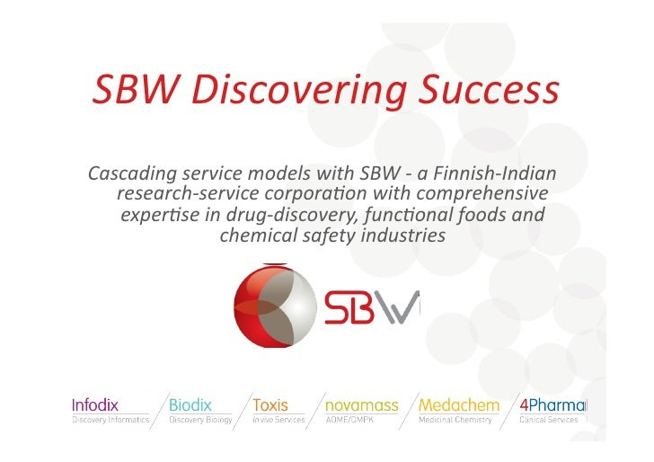 SBW  Discovering  Success   Cascading  service  models  with  SBW  -‐  a  Finnish-‐Indian      res...