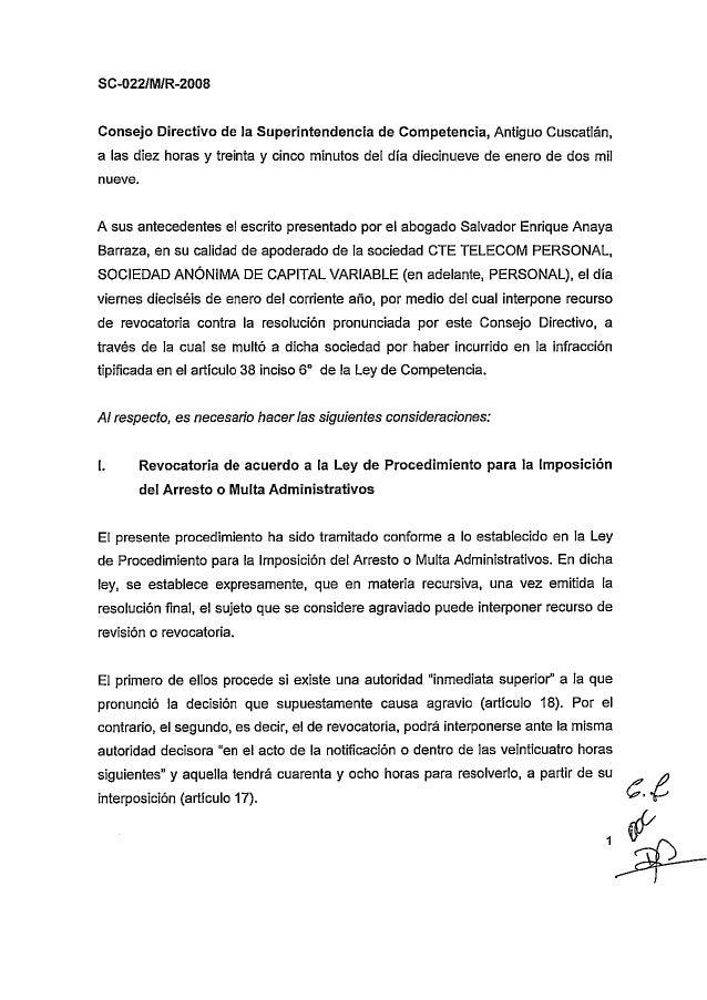 SC-022-O/M/R-2008  Resolución del recurso de revisión