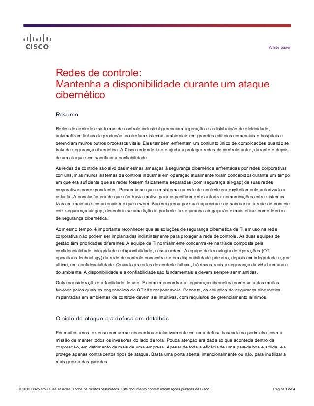 © 2015 Cisco e/ou suas afiliadas. Todos os direitos reservados. Este documento contém informações públicas da Cisco. Págin...