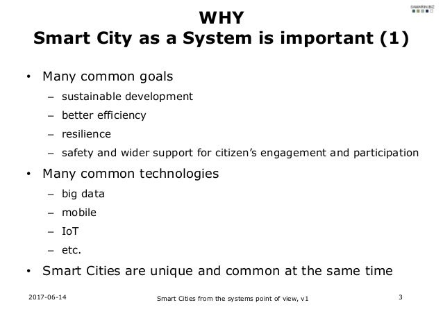 Smart Cities from the systems point of view Slide 3