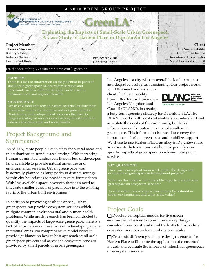 A 2010 BREN GROUP PROJECT                                                         GreenLA                             Eval...