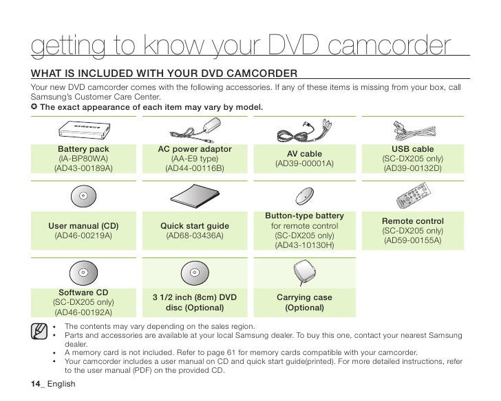 Samsung Camcorder SC-DX200 User Manual