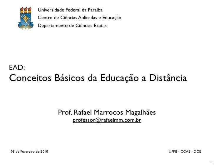 Universidade Federal da Paraíba                 Centro de Ciências Aplicadas e Educação                 Departamento de Ci...