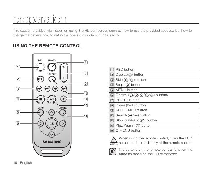 Samsung Camcorder SC-HMX20C User Manual