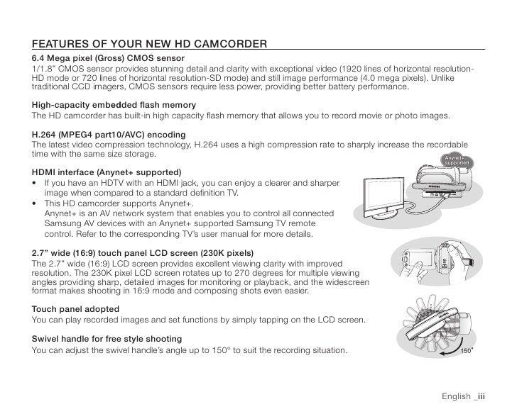 Samsung Camcorder SC-HMX20C User Manual