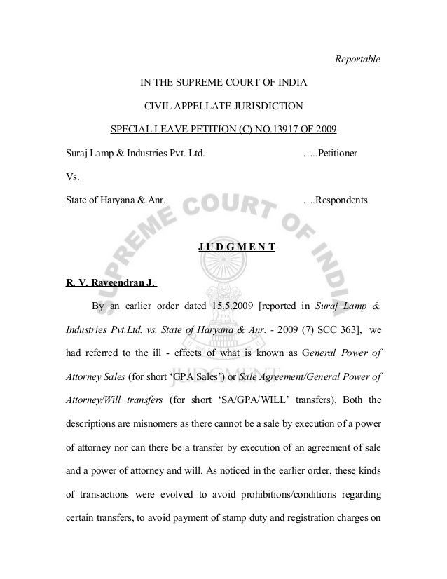Reportable                  IN THE SUPREME COURT OF INDIA                   CIVIL APPELLATE JURISDICTION           SPECIAL...