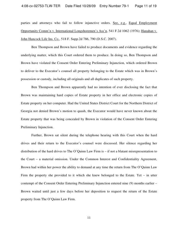 Sample Conflict Letter To Court In Georiga