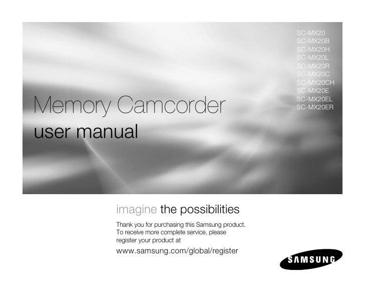 samsung camcorder sc mx20 user manual rh slideshare net Samsung ManualsOnline Samsung ManualsOnline