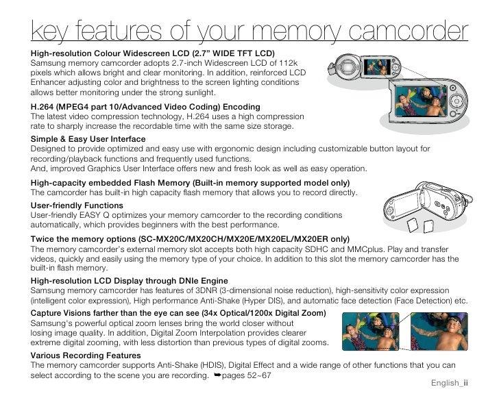 samsung camcorder sc mx20 user manual rh slideshare net Samsung Digital Camcorder Charger Samsung Digital Camcorder Charger Walmart