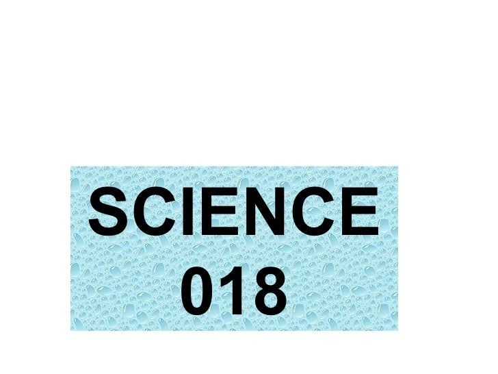 SCIENCE 018
