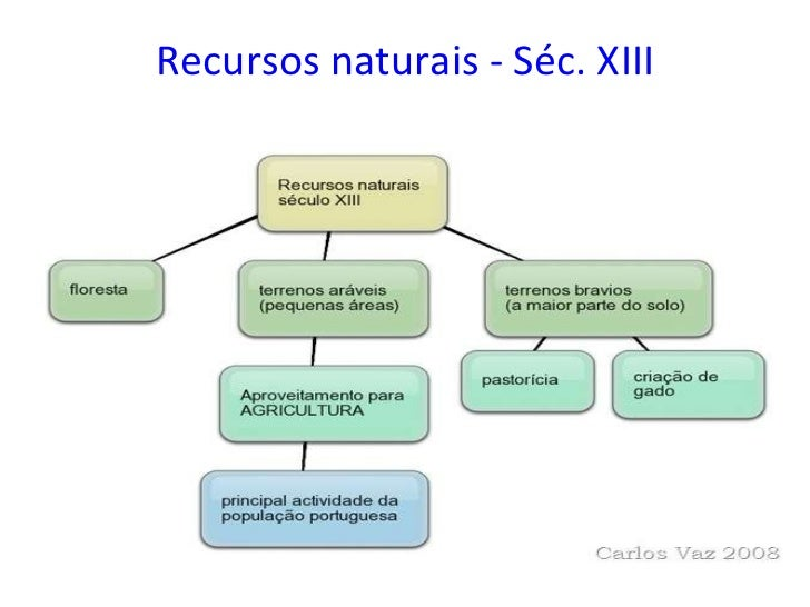 Recursos naturais - Séc. XIII