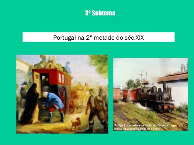 3º SubtemaPortugal na 2ª metade do séc.XIX