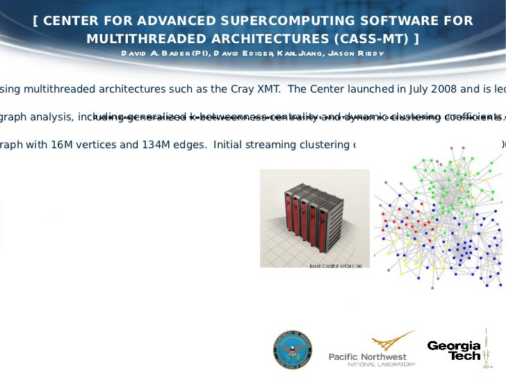 [ CENTER FOR ADVANCED SUPERCOMPUTING SOFTWARE FOR MULTITHREADED ARCHITECTURES (CASS-MT) ] [ OBJECTIVE ] To design software...