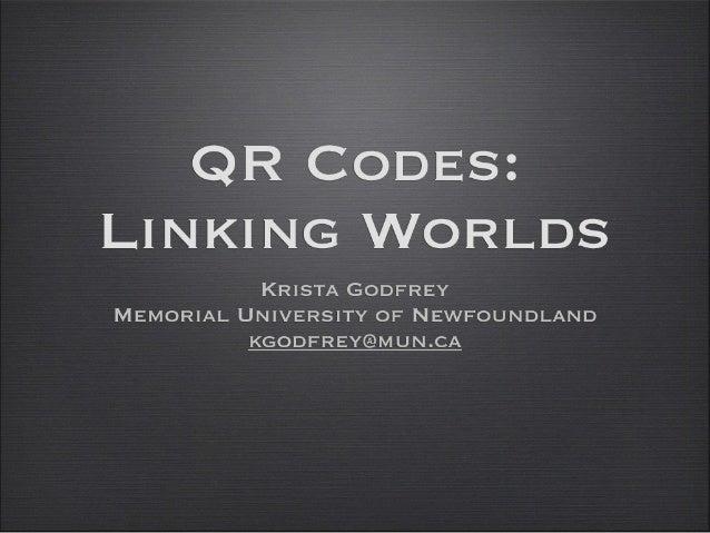 QR Codes: Linking Worlds