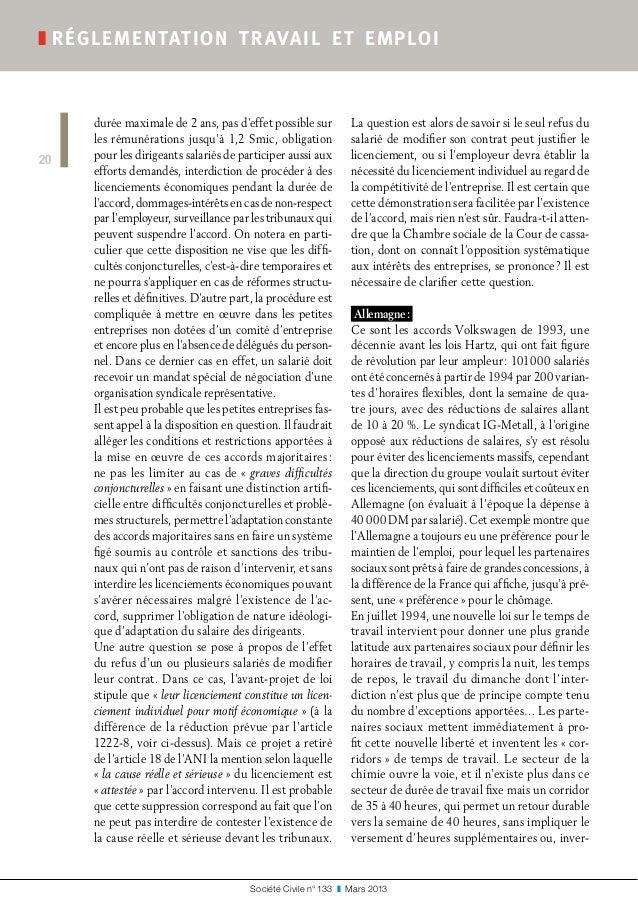 Société Civile n° 133 ❚ Mars 2013 ❚réglementation travail et emploi 20 durée maximale de 2 ans, pas d'effet possible su...