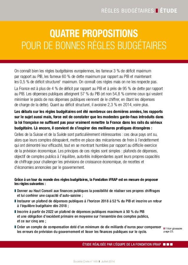 Quatre proposition pour de bonnes règles budgétaires Slide 2