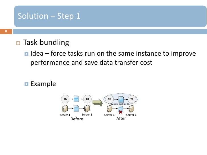 Solution – Step 18       Task bundling         Idea – force tasks run on the same instance to improve          performan...