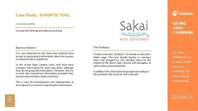 Sakai Synoptic Tool - Entornos de Formación Slide 2