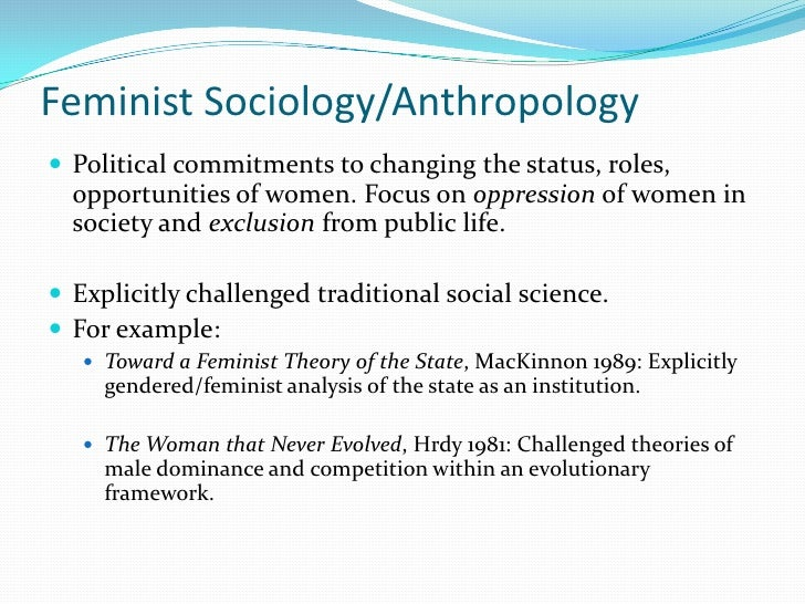 Sociological Theory/Feminist Theory