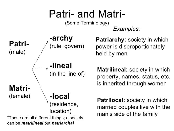 benefits of patrilinear and matrilinear lineage Abstract: i examine how matrilineal relative to patrilineal kinship systems affect  spousal cooperation in matrilineal kinship systems, lineage and inheritance are  traced through female members the  i outline the benefits of the rd design  and.