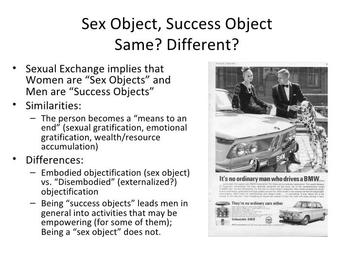 Men as success objects and women as sex objects