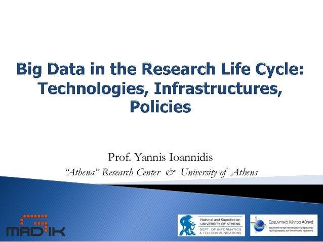 "Prof. Yannis Ioannidis ""Athena"" Research Center & University of Athens"