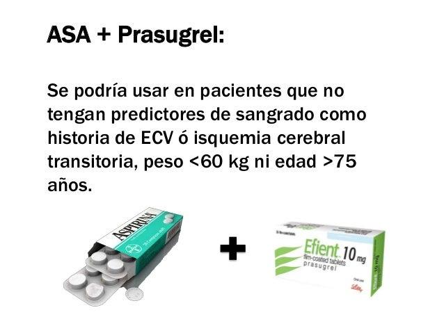 Ticagrelor        • 18.624 pacientes con SCA con ST y SCA sin ST        • Ticagrelor (180 mg de carga y 90 mg /12h de mant...