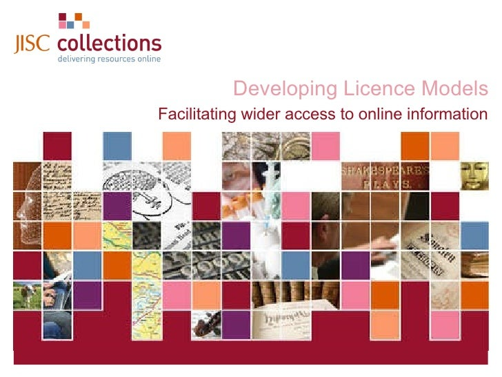 Developing Licence Models Facilitating wider access to online information