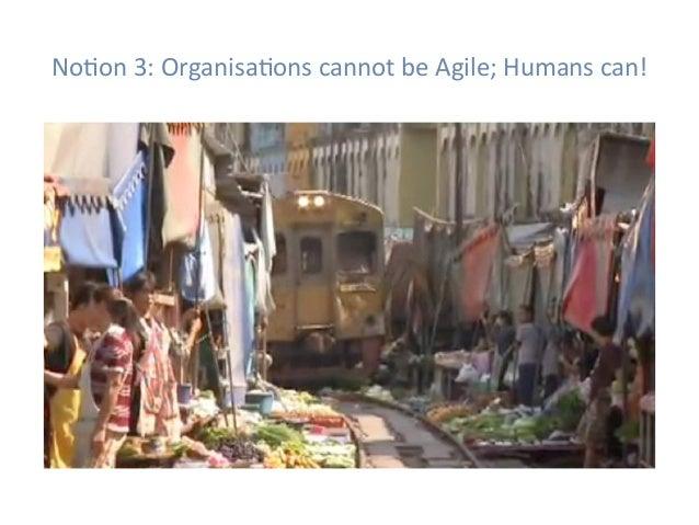 NoHon3:OrganisaHonscannotbeAgile;Humanscan!
