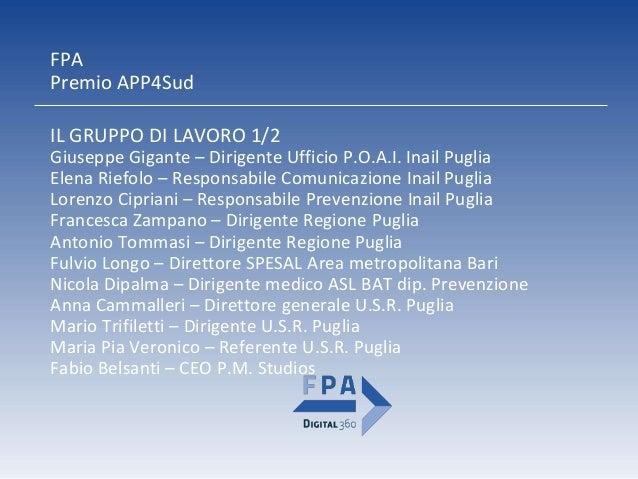 ScacciaRischi Inail Direzione regionale Puglia Slide 3