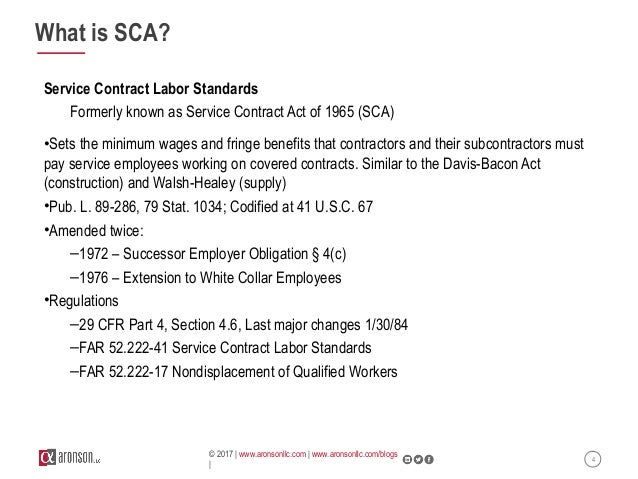 Webinar Service Contract Act Sca Compliance In Real Business Gover